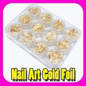 Soft Gold Leaf Foil Sheet for Acrylic UV Nail Decoration DIY Hobby