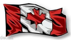 Canadian EH Flag Waving Sticker Decal Canada CDN HUGE