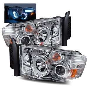 02 05 Dodge Ram LED CCFL Halo Projector Headlights