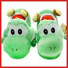 Super Mario GREEN YOSHI Plush Slipper Teen Adul​t Size