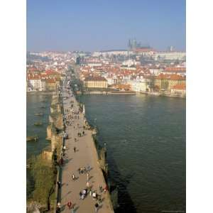 View Over Charles Bridge, Vltava River and Mala Strana, Prague