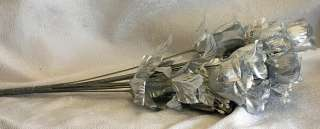84 Long Stem Roses ~ SILVER MERCURY Silk Wedding Flowers Centerpieces