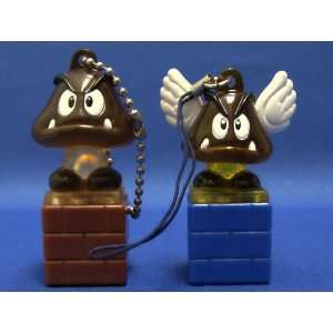 Super Mario Bros Light up Figure Keychain Wing Goomba