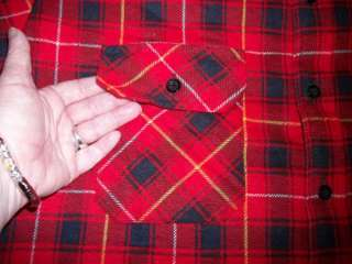 Lumberjack Plaid Flannel Quilted Shirt Jacket XL *Jesse James Low