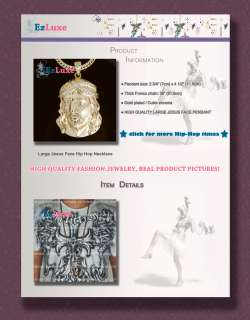 XX Large Jesus Face piece head Hip Hop Pendant Necklace