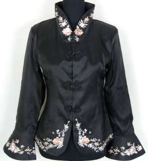 Junoesque Chinese silk Womens Evening wear dress Jacket/coat shirt