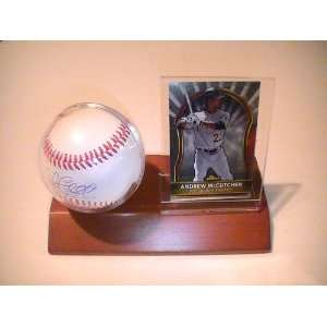 Andrew Mccutchen Pittsburgh Pirates Signed Autographed Baseball & Wood