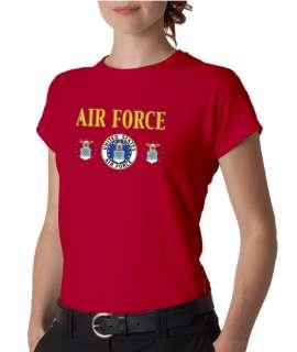 Air Force Triple Insignia Ladies Tee Shirt