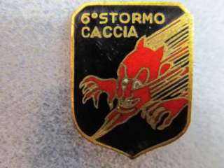 6th Wing Stormo Caccia Pin Back royal Italian Air force WWII