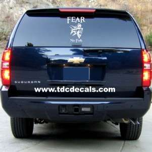 Fear No Fish Die Cut Vinyl Decal Sticker