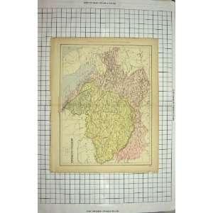 BARTHOLOMEW ANTIQUE MAP AUSTRIA HUNGARY BOSNIA