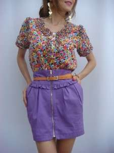 BN Luella Floral Frill Cotton Shirt /Top Tee UK 8 10 12