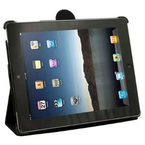PU Leather Foldable Carry Skin Case Cover Stand for Apple iPad 2 Black