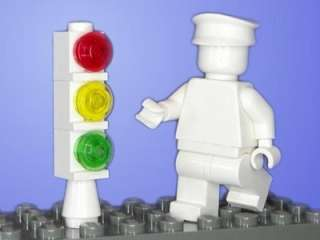 New Lego Basic Stop Light / Traffic Signal City Town White