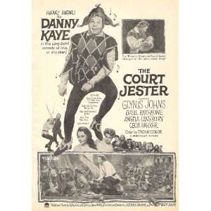 The Court Jester 1956 Movie Ad with Danny Kaye: Everything