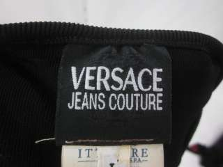 You are bidding on a VERSACE JEANS COUTURE Black V Neck Sweater size