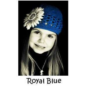 Little Noggin Royal Blue crochet beanie kufi hat for baby & toddler