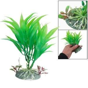 Como Plastic Green Grass Fish Tank Artificial Ornament for