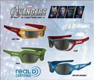 Avengers Exclusive Marvel 3D Glasses Iron Man Thor Captain America