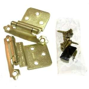 Semi concealed Cabinet Hinge, self closing, 3/8 Inset, Polished Brass