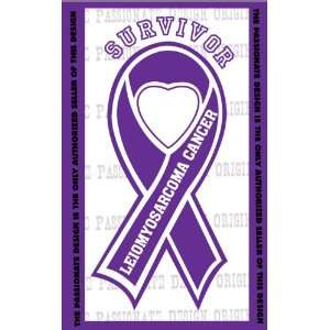 Leiomyosarcoma Cancer Ribbon Decal 4 X 7 Everything