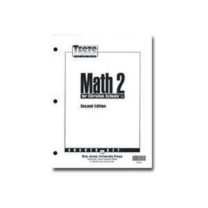 Math 2 Tests Answer Key for Christian Schools