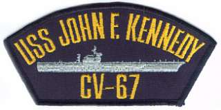 US Navy Ball Cap Patch USS John F. Kennedy CV 67