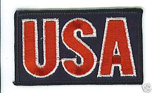 USA Flag Patch United States America military biker USO