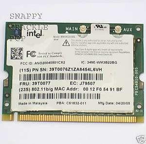 IBM Thinkpad T40 T41 R50 X32 Wireless WIFI Card 39T0077