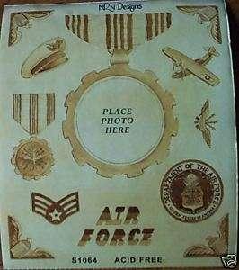 US AIR FORCE MILITARY VINTAGE MEDAL SCRAPBOOK STICKER