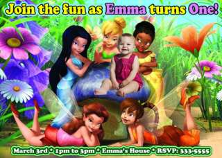 TINKERBELL & FAIRIES BIRTHDAY PARTY INVITATIONS