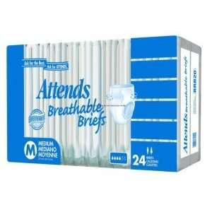 Attends Breathable Briefs    Pack of 24    PNGBRBC30: Health