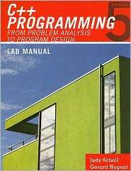 Lab Manual for Maliks C++ Programming From Problem Analysis to