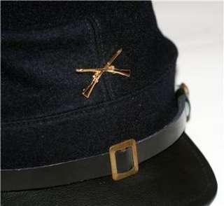 UNION ARMY CAVALRY Civil War CROSSED RIFLES GUNS Dark Blue KEPI CAP