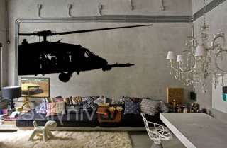 Graphic Wall Art Vinyl Deco Army Helicopter Chopper