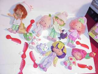 Vintage Strawberry Shortcake Boxed Figures Lot w/ Pets