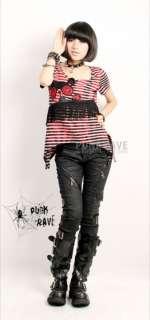 womens visual kei PUNK Kera tight long trousers pants