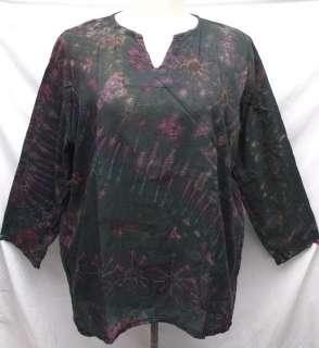 Hippie Tie Dye Cotton Shirt TOP Unisex LS3085 Sz 2XL 2X