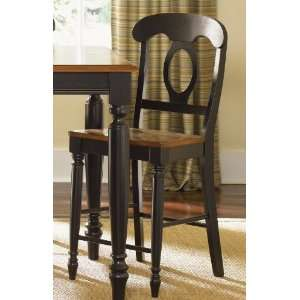 Liberty Low Country Dining Black Napoleon Back Barstool