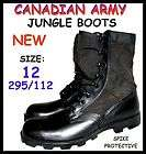 CANADIAN ARMY COMBAT BOOTS   JUNGLE   SIZE 12   BLACK