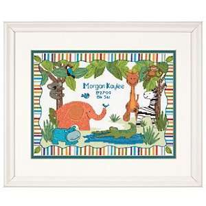Baby Hugs Mod Zoo Birth Record Counted Cross Stitch Kit 12