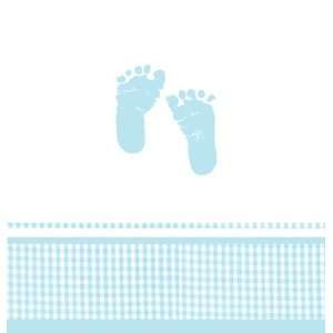 Boy Footprint Baby Shower Plastic Table Covers: Health