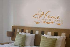 Home is where the heart is ART Kitchen decal vinyl wall