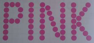 Pink Sticker Polka Dots Wall Window Decal Art Car Vinyl