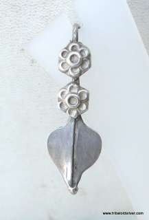 VINTAGE ANTIQUE ETHNIC TRIBAL OLD SILVER EARRING PAIR