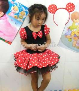 Halloween Minnie Mouse Girl Pary Costume Ballet Tutu Dress 2 10Y Kids