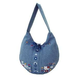 Japanese Sanrio Hello Kitty Hobo Bag Denim Toys & Games