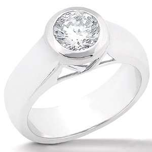 0.75 carat diamond solitaire white gold engagement ring