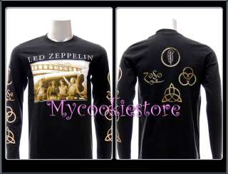 Sz L Led Zepplin T shirt Tour Rock Band Long Sleeve L/S