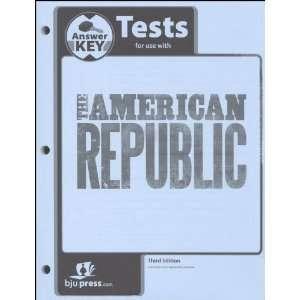 American Republic Test Answer Key